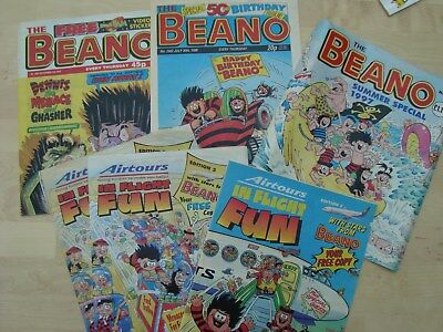 5 BEANO SPECIALS COMICS VINTAGE 1995 -6/7/8: AIRTOURS, SUMMER SPECIAL, 5Oth bday