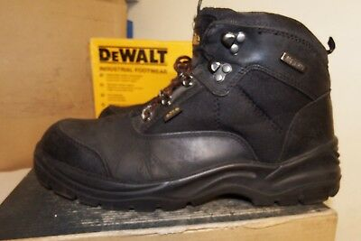 Site Onyx Black Leather Steel Toe Cap Safety Boots VGC UK 9 /  EU 43 - AA335