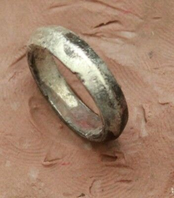 L6  Ancient Roman Silver Ring   Size D=14mm 3,2g