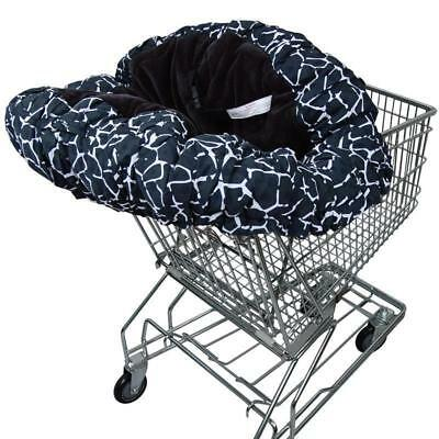 Baby Floppy Seat - Shopping Cart or Highchair cover - Grey/Black Giraffe Print
