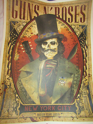 GUNS N' ROSES - NEW YORK 16 OCTOBER 2017 LITHOGRAPH - number 48 of 300   MSG