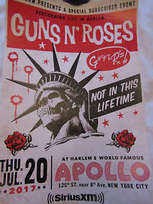GUNS N' ROSES - NEW YORK 20 JULY 2017, APOLLO.  SIRIUS XM Limited edition litho