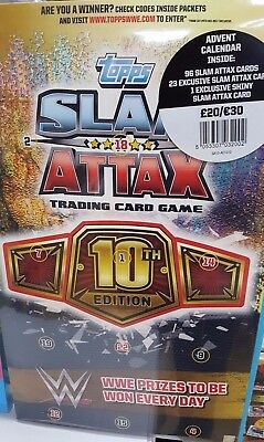 Topps WWE Slam Attax 10th Edition Advent Calendar 2017: 96 Cards, 23 Exclusives