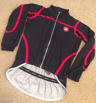Castelli Pave Black/ Red Rain Jacket - Medium