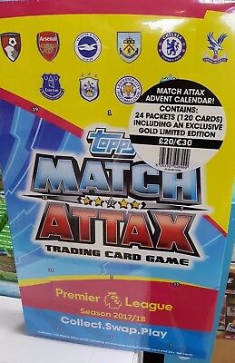 Topps Match Attax Advent Calendar 2017/18: 120 Cards + Exclusive Gold Limited E