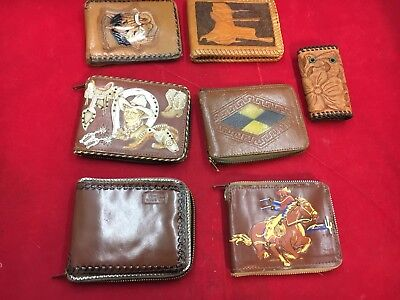 Vintage wallets, 6 western era wallets