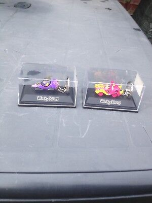 Wacky Races ~ Dick Dastardley And Penelope Pitstop Dicast Keyrings.