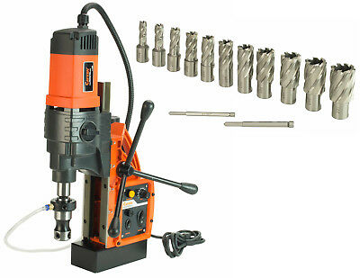 """Cayken KCY-48-2WDO 1.8"""" Magnetic Drill Press with 13PC 1"""" Annular Cutter Kit"""
