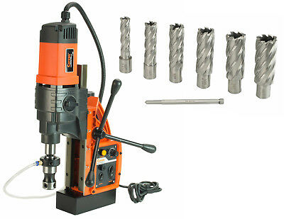 """Cayken KCY-48-2WDO 1.8"""" Magnetic Drill Press with 7PC 2"""" Annular Cutter Kit"""