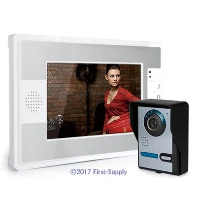 """7"""" LCD Video Doorbell Kit 1 Camera 1Monitor Night Vision Compatiable With E-lock"""