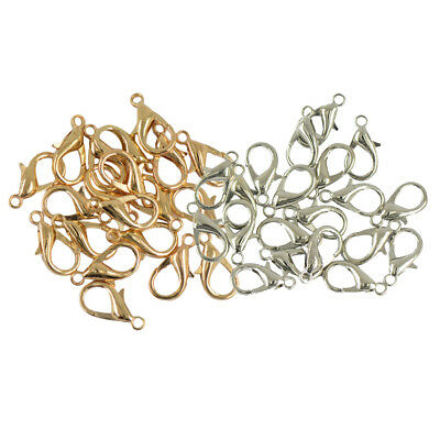 40Pcs/Lot 18mm Lobster Clasp Connector Ring End Hook Buckle Jewelry Findings