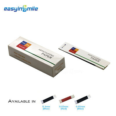 200 Sheets/Box EASYINSMILE Articulating Paper Strips Sheet Blue/Red 30U/50U/100U