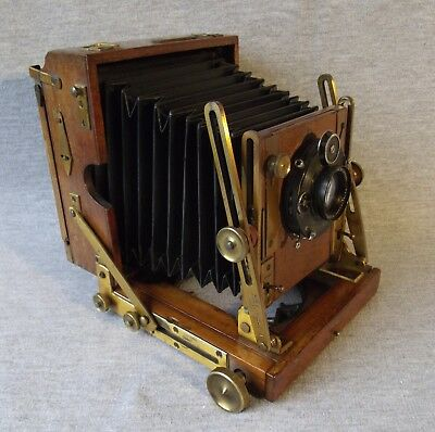 Houghton Sanderson, Watson Dallmeyer, Brass Lens 19thC Fine Antique Plate Camera