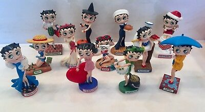 Discontinued Betty Boop Calendar Figurines by Danbury Mint - set of 12