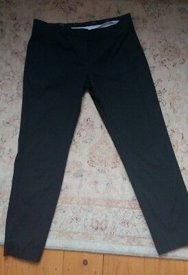 MAX MARA Designer Black Cotton Stretch Skinny Trousers Italy Size 44 16 14