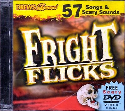 FRIGHT FLICKS HALLOWEEN: 57 Songs & Scary Sounds Cd + Virtual Haunted House  Dvd!
