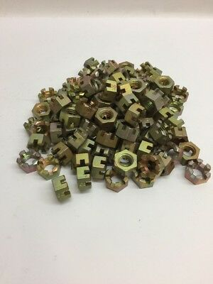 Alamo Aircraft Hexagon Slotted Plain Nut (Lot of 100) MS35692-50  5/8-11