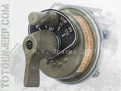 commutateur rotatif éclairage JEEP WILLYS post 6/44 ford gpw MV SPARES PRODUCTS