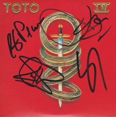 TOTO 1982 Lukather CD Album Autogramm signed IN PERSON signiert Autograph