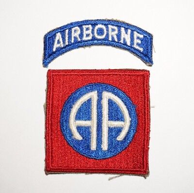 82nd Airborne Division Patch With Tab WWII US Army P5180