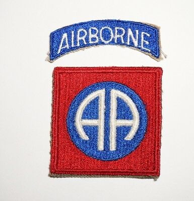 82nd Airborne Division Patch With Tab WWII US Army P5181