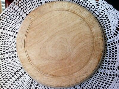 vintage classic carved wooden bread board round