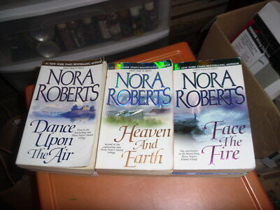 COMPLETE set of 3 Three Sisters Island trilogy books by Nora Roberts