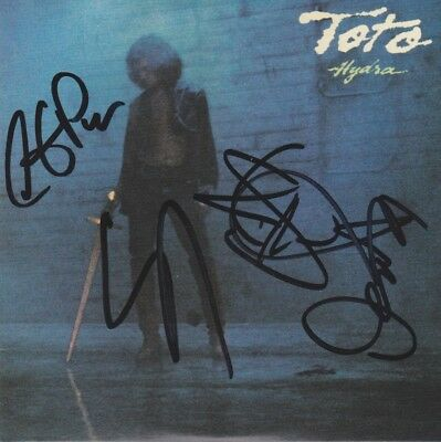 TOTO 1979 Lukather CD Album Autogramm signed IN PERSON signiert Autograph