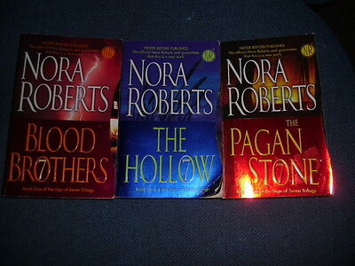 """The Sign of Seven Trilogy""  by Nora Roaberts   ALL 3 BOOKS"
