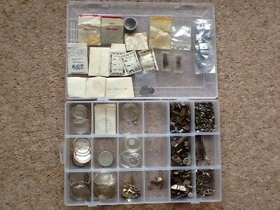 Large Collection of Vintage Watch Parts
