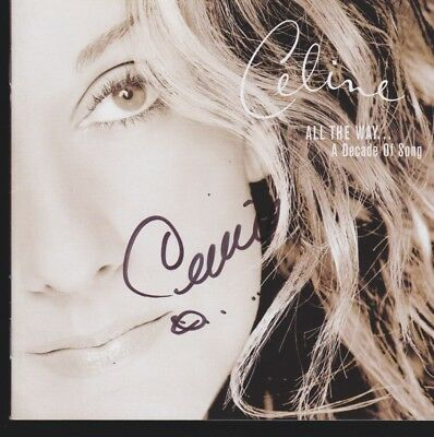 CELINE DION 1 CD Album Booklet Autogramm signed IN PERSON signiert Autograph