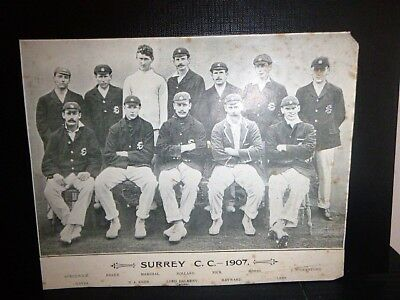 Early 1900's Original Newspaper / Magazine Cricket Team Photos