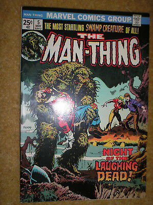 MAN-THING # 5 1st MIKE PLOOG ART GERBER 25c 1974 BRONZE AGE MARVEL COMIC BOOK