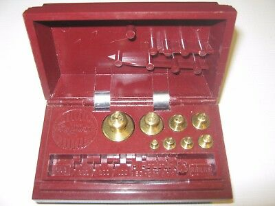 Vintage Ohaus Scale Sto-A-Weigh Calibration Weight Set With Bakelite Case