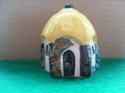 Tey Pottery Umbrella Cottage  No23  Miniature House - yellow roof