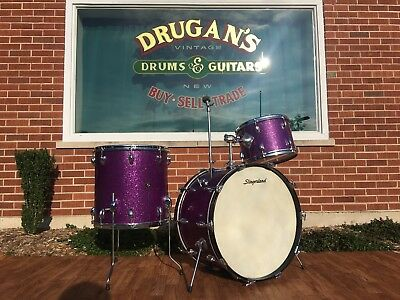 Slingerland 1969 Sparkling Purple Pearl 4pc Drum Set 22/12/13/16