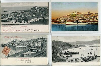 ---QC31 shipping ANCONA HARBOUR different ships X 4---