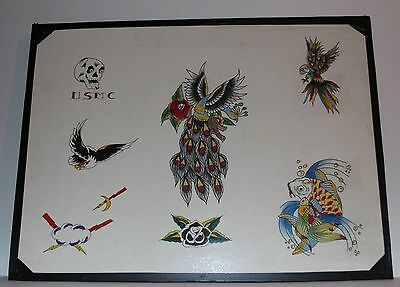 Authentic Vintage Old School Tattoo flash Artwork from Bert Grimm Ilustrated Man