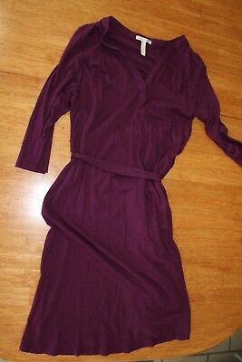 Old Navy Maternity dress size small 3/4 sleeve pretty plum color