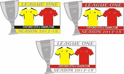 Oxford v Charlton League One Matchday Badge 2017-18