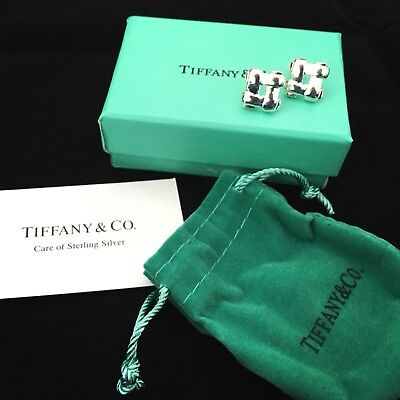 NEW Boxed Tiffany & Co silver 925 lattice effect earrings - Christmas gift