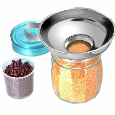 Stainless Steel Wide-mouth Canning Funnel Packaging Pickles Fruit Jam Sausages