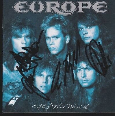 EUROPE Band CD Album IN PERSON 4 signiert Autogramm signed Autograph TOP