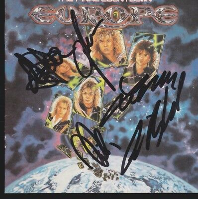 EUROPE Band CD Album IN PERSON KOMPLETT signiert Autogramm signed Autograph TOP