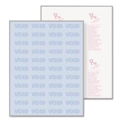 DocuGard Security Paper 24lbs 8-1/2 x 11 Blue - 25 Sheets