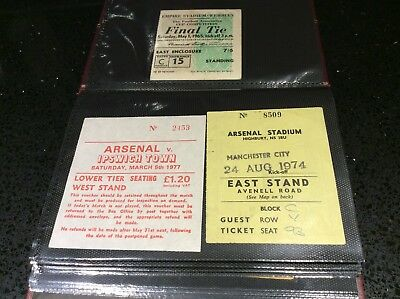 45 x Football Match tickets. 1950's - 1970's.  Big Match, League, Cup, Ints