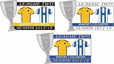 Newport v Colchester League Two  Matchday badge 2017-18