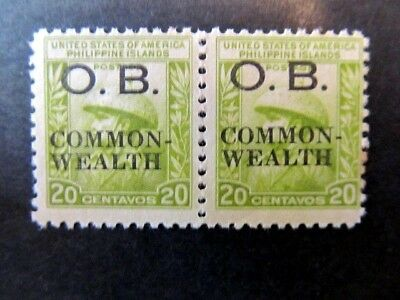 PHILIPPINES, Mi# D27, O.B. COMMONWEALTH OVERPRINTS, 20c, (1938) MNH