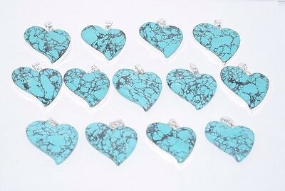Wholesale Lot !! 13 Pcs 925 Silver Plated Natural Turquoise Gemstone Pendant