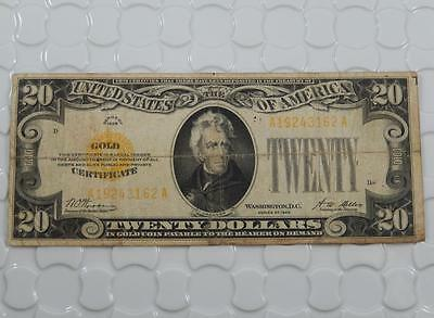 Series 1928 $20 Ten Dollar Gold Certificate Woods-Mellon Note P0049